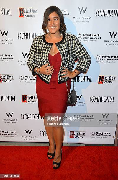 Acytress Q'orianka Kilcher arrives at Los Angeles Confidential Magazine Celebrates Their Men's Issue Cover Party with Dennis Quaid at The Residences...