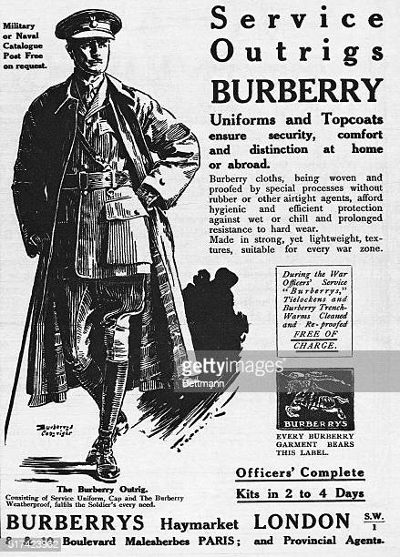 Ad for Burberry's Service Outrigs, 1918.