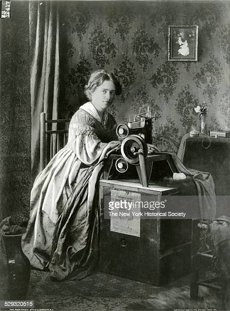 Ad for Singer's Patent Sewing Machine 1899 Photograph by The Montague Studio Brooklyn