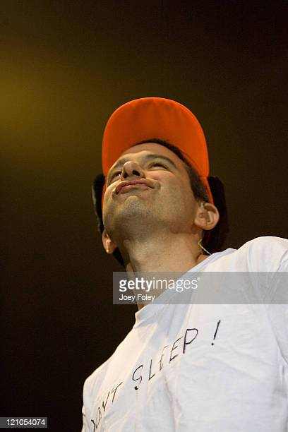 Ad Rock of Beastie Boys performs on stage in the Get Out and Vote '08 concert at the Hara Arena on October 30 2008 in Dayton Ohio