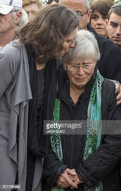 Ada and Orit Willenberg the widow and daughter of Samuel Willenberg the last survivor of a prisoners' revolt at the Treblinka Nazi death camp in...