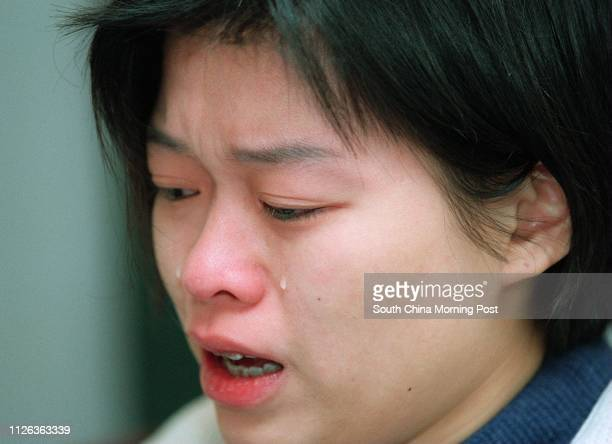Ada Au Yeung Siu-yin, wife of kidnapped film director Au fook-hung who is being detained in China, makes an emotional appeal 8 Jan 96 to mainland...
