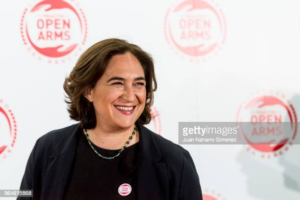 Ada Colau attends Open Arms GNO meeting at Pabellon de los Jardines de Cecilio Rodriguez on May 31 2018 in Madrid Spain
