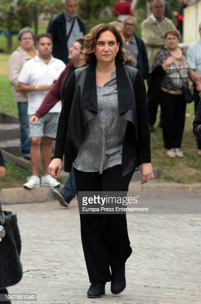Ada Colau attends the funeral for the soprano Montserrat Caballe,who died at 85, at Les Corts morgue on October 8, 2018 in Barcelona, Spain.