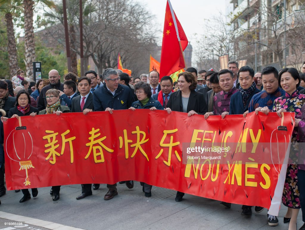 Barcelona  Celebrates The Chinese New Year
