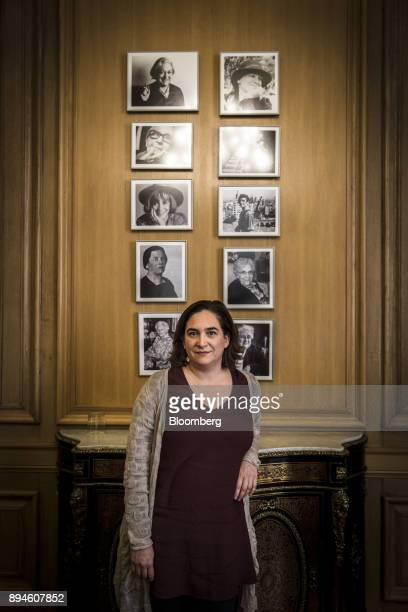 Ada Colau, mayor of Barcelona, poses for a photograph in her City Hall office in Barcelona, Spain, on Thursday, Nov. 30, 2018. Catalonias...