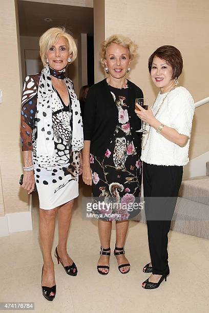 """Ada De Maurier, Della Rounick and Yuesai Kan attend the 2015 Samuel Waxman Cancer Research Foundation's """"Collaborating for a Cure High Tea"""" at a..."""