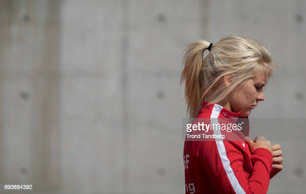 Ada Hegerberg during Norwegian Men Training Session at Ullevaal Stadion on June 6 2017 in Oslo Norway