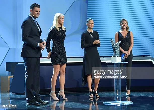 Ada Hegerberg is announced as the winner of the UEFA Best Womens Player in Europe Award during the ECF Season Kick Off 2016/17 on August 25 2016 in...