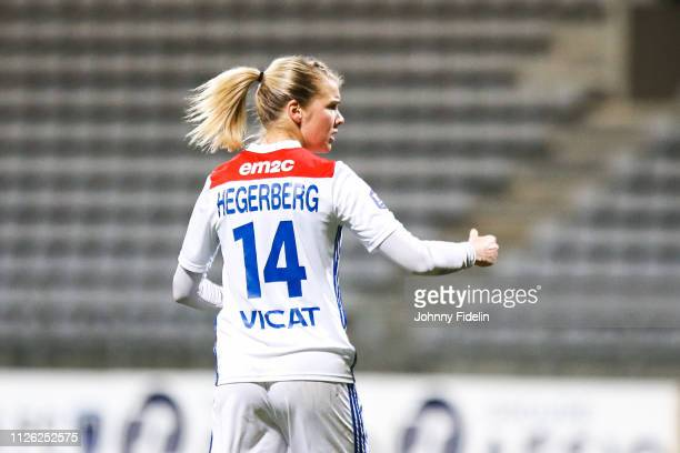 Ada Hegerberg of Lyon celebrate his goal during the women's division 1 match between Paris FC and Lyon at Stade Charlety on February 20 2019 in Paris...