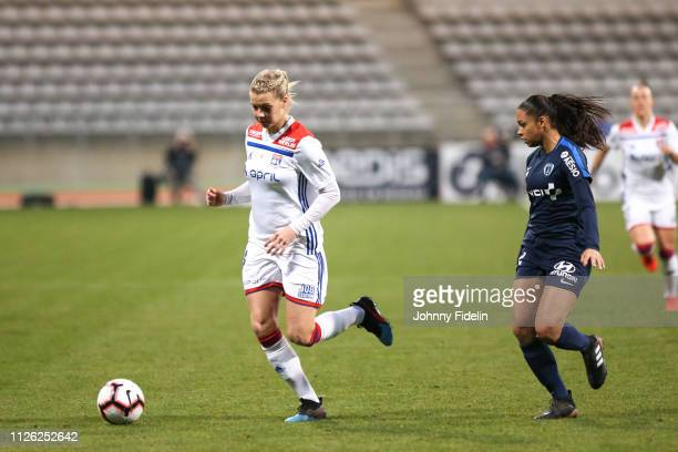 Ada Hegerberg of Lyon during the women's division 1 match between Paris FC and Lyon at Stade Charlety on February 20 2019 in Paris France