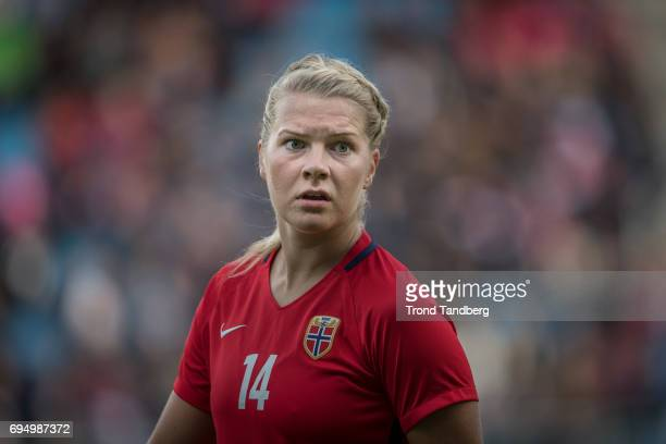 Ada Hegerberg of Norway during International Friendly between Norway Woman v USA Women at Komplett Arena on April 11 2017 in Sandefjord Norway