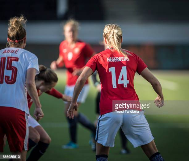 Ada Hegerberg of Norway during International Friendly match between Norway v Switzerland at Skagerak Arena on April 10 2017 in Skien Norway