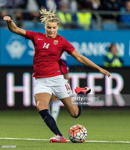 Ada Hegerberg of Norway during the UEFA Womens Euro2017 Qualifier match between Norway and Kazakhstan at Aker Stadion on September 15 2016 in Molde...