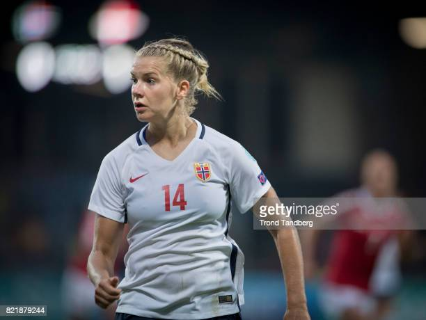 Ada Hegerberg of Norway during the UEFA Womens«s Euro between Norway v Denmark at Stadion De Adelaarshorst on July 24 2017 in Deventer Netherlands