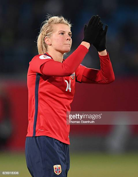 Ada Hegerberg of Norway during the women's international friendly match between Germany and Norway at community4you ARENA on November 29 2016 in...