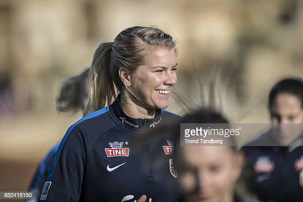 Ada Hegerberg of Norway during training at La Manga Club on January 19 2017 in La Manga Spain