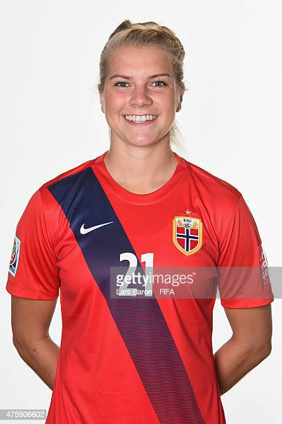 Ada Hegerberg of Norway poses during the FIFA Women's World Cup 2015 portrait session at Fairmont Chateau Laurier on June 3 2015 in Ottawa Canada