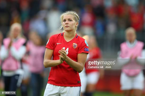 Ada Hegerberg of Norway Women applauds after the UEFA Women's Euro 2017 match between Norway and Belgium at Rat Verlegh Stadion on July 20 2017 in...