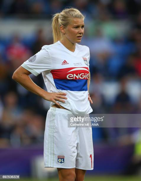 Ada Hegerberg of Olympique Lyonnais during the UEFA Women's Champions League Final match between Lyon and Paris Saint Germain at Cardiff City Stadium...