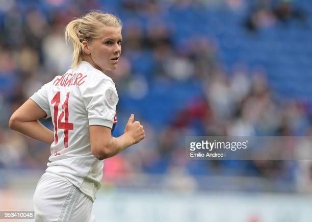 Ada Hegerberg of Olympique Lyonnais looks on during the UEFA Women's Champions League Semi Final Second Leg match between Olympique Lyonnais and...