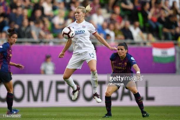 Ada Hegerberg of Olympique Lyonnais women Andrea Pereira of FC Barcelona women during the UEFA Women's Champions League final match between Olympique...
