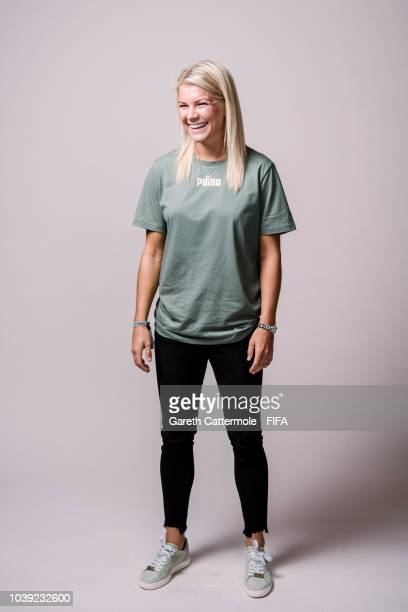 Ada Hegerberg poses for a portrait at London Marriott Hotel County Hall prior to the The Best FIFA Football Awards 2018 on September 23 2018 in...