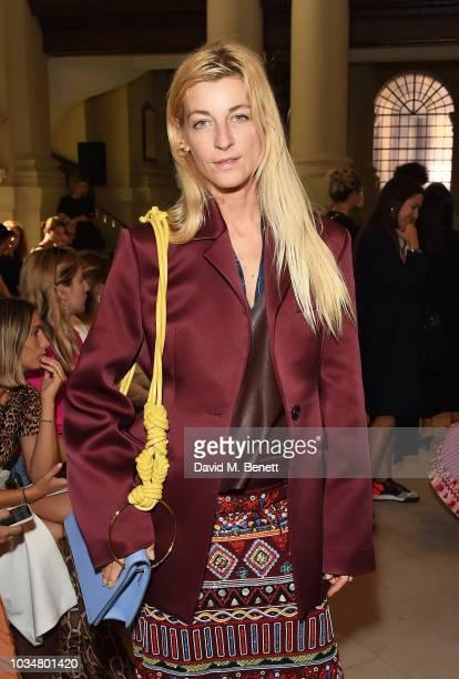 Ada Kokosar attends the David Koma front row during London Fashion Week September 2018 on September 17 2018 in London England