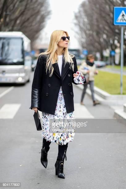 Ada Kokosar is seen outside Armani during Milan Fashion Week Fall/Winter 2018/19 on February 25 2018 in Milan Italy
