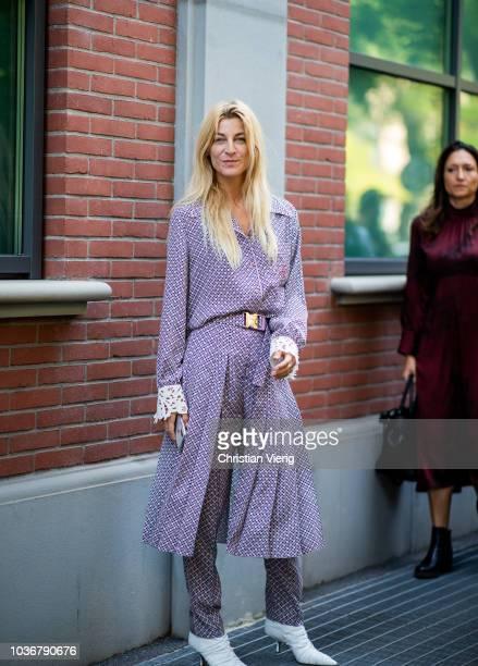 Ada Kokosar is seen outside Fendi during Milan Fashion Week Spring/Summer 2019 on September 20 2018 in Milan Italy