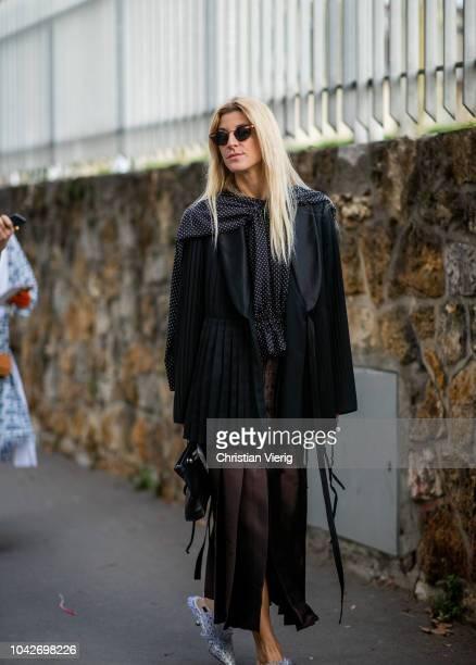 Ada Kokosar is seen outside Loewe during Paris Fashion Week Womenswear Spring/Summer 2019 on September 28 2018 in Paris France