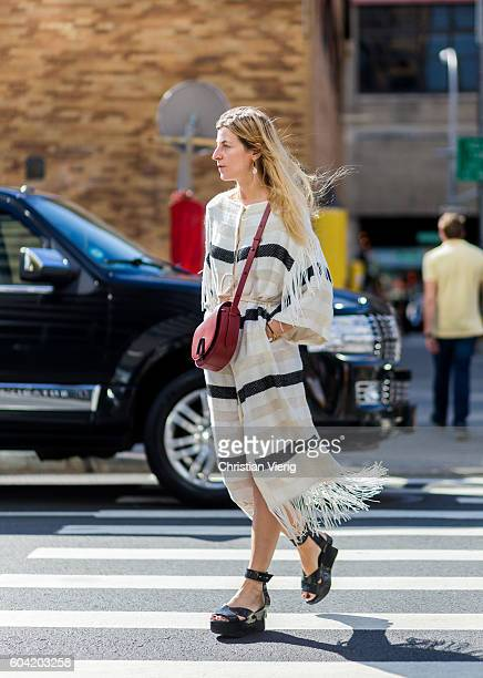 Ada Kokosar outside Phillip Lim on September 12 2016 in New York City