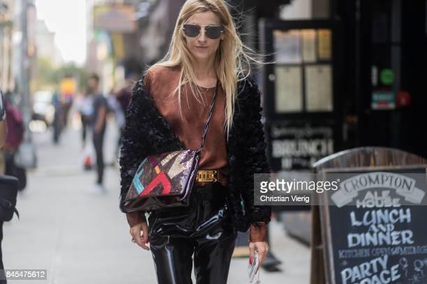 Ada Kokosar seen in the streets of Manhattan outside Sies Marjan during New York Fashion Week on September 10 2017 in New York City