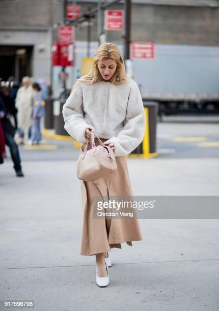 Ada Kokosar seen outside 31 Phillip Lim on February 12 2018 in New York City