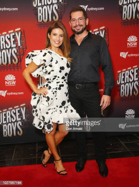 Ada Nicodemou and Adam Rigby attend opening night of Jersey Boys at Capitol Theatre on September 6 2018 in Sydney Australia