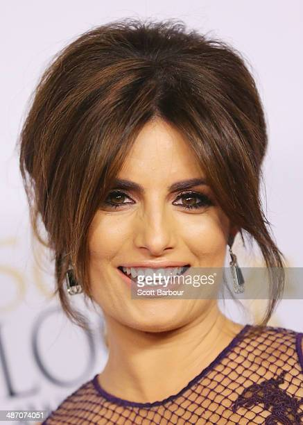 Ada Nicodemou arrives at the 2014 Logie Awards at Crown Palladium on April 27 2014 in Melbourne Australia