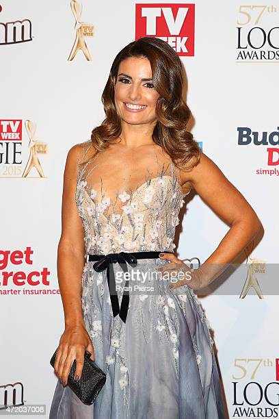 Ada Nicodemou arrives at the 57th Annual Logie Awards at Crown Palladium on May 3 2015 in Melbourne Australia