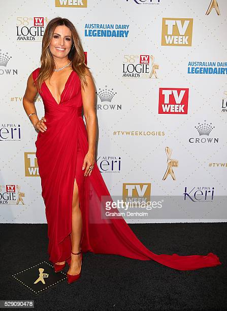 Ada Nicodemou arrives at the 58th Annual Logie Awards at Crown Palladium on May 8 2016 in Melbourne Australia