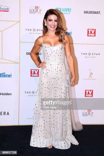 Ada Nicodemou arrives at the 60th Annual Logie Awards at The Star Gold Coast on July 1 2018 in Gold Coast Australia