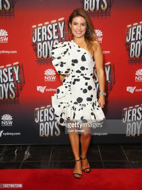 Ada Nicodemou attends opening night of Jersey Boys at Capitol Theatre on September 6 2018 in Sydney Australia