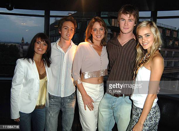 Ada Nicodemou Jason Smith Laurie Foell Chris Hemsworth and Isabel Lucas