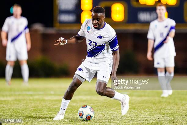 Ada Okorogheye of Amherst Mammoths during the Division III Men's Soccer Championship held at UNCG Soccer Stadium on December 7 2019 in Greensboro...