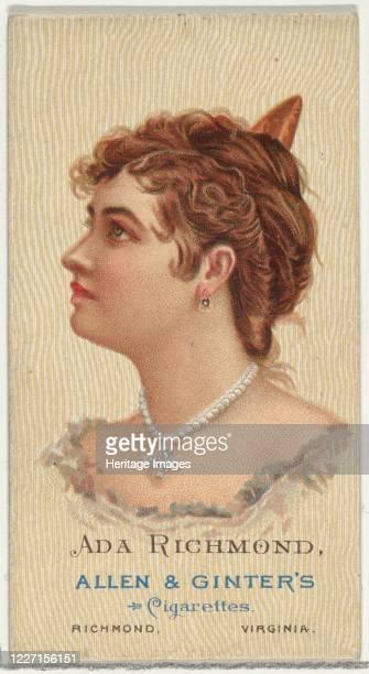 Ada Richmond from World's Beauties Series 2 for Allen Ginter Cigarettes 1888 Artist Allen Ginter