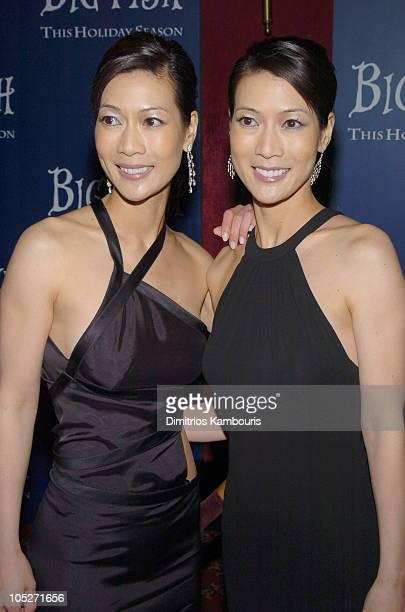 Ada Tai and Arlene Tai during Big Fish New York Premiere Inside Arrivals at Ziegfeld Theatre in New York City New York United States