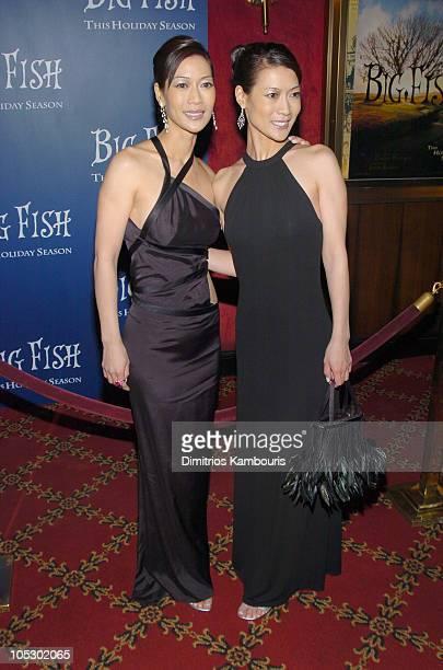 Ada Tai and Arlene Tai during 'Big Fish' New York Premiere Inside Arrivals at Ziegfeld Theatre in New York City New York United States