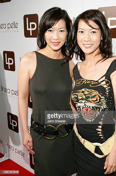 Ada Tai and Arlene Tai during Linea Pelle 20th Anniversary Party Red Carpet at Pacific Desgin Center in West Hollywood California United States