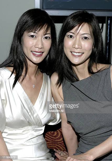 Ada Tai and Arlene Tai during Scene It Hollywood Challenge at Hollywood History Museum in Hollywood California United States