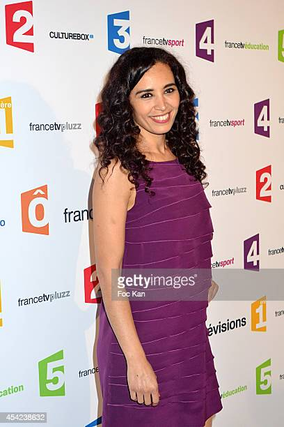 Ada Touihri attends the 'Rentree de France Televisions' at Palais De Tokyo on August 26, 2014 in Paris, France.