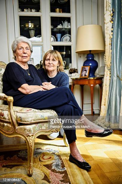 Ada Uderzo the widow of the Albert Uderzo the creator of comic book hero AstÈrix is photographed for Paris Match with her daughter Sylvie in...