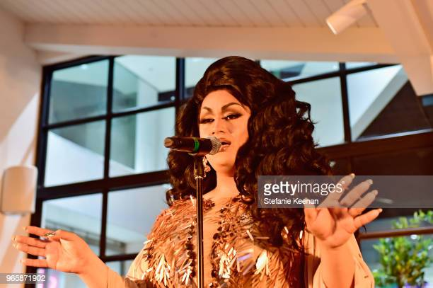 Ada Vox performs at Beverly Center The Advocate KickOff PRIDE Month with Champions of PRIDE Event on June 1 2018 in Los Angeles California